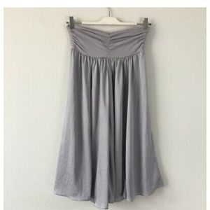 CAbi Silver Midi Convertible Dress